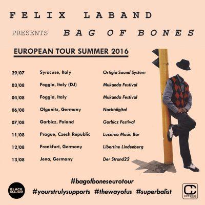 Black Major Felix Laband Bag of Bones Tour