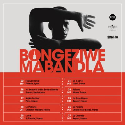 Black Major Bongeziwe Mabandla Tour Dates September/October 2018